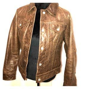 """Gap ladies leather """"jean"""" jacket"""
